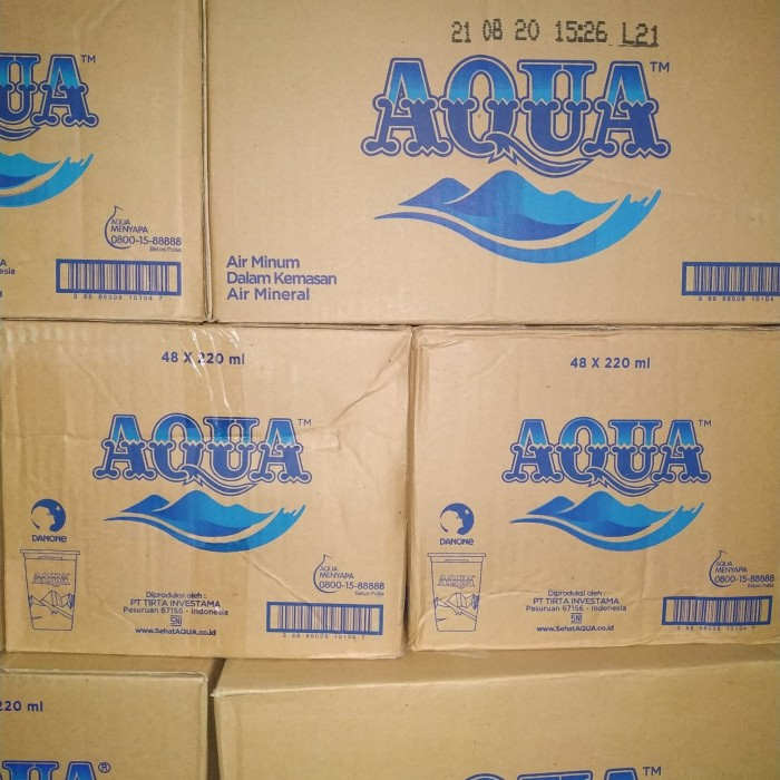 harga Aqua 240ml (gelas) Tokopedia.com
