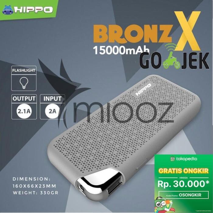 Power Bank Hippo Bronz X 15000 mAh Garansi Resmi - Grey