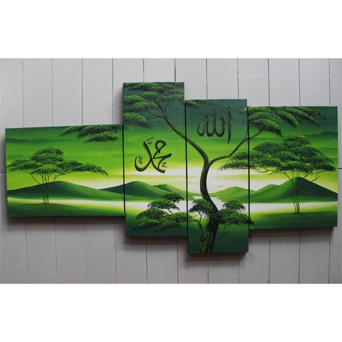 Jual Lukisan Kaligrafi Rumah Islami Lukisan Kaligrafi Pemandangan Hijau Au Jakarta Barat Home Sweet Home Store Tokopedia