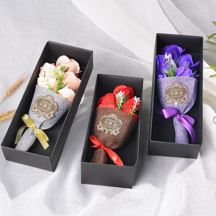 Buket Bunga Mawar Pink Sabun Gift Kado Valentine Bouquet Roses 5 Soap