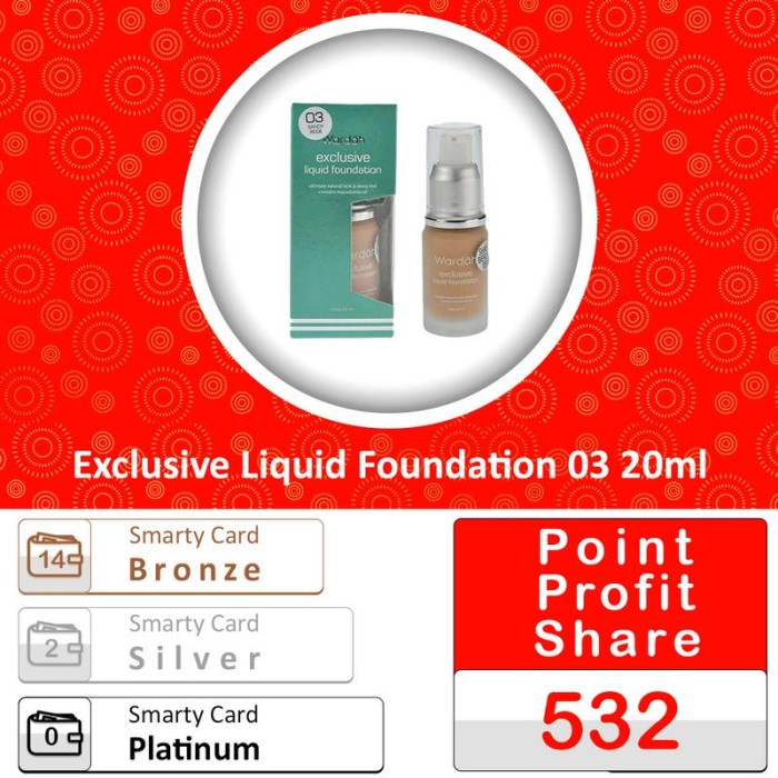 Wardah Exclusive Liquid Foundation 03 20ml