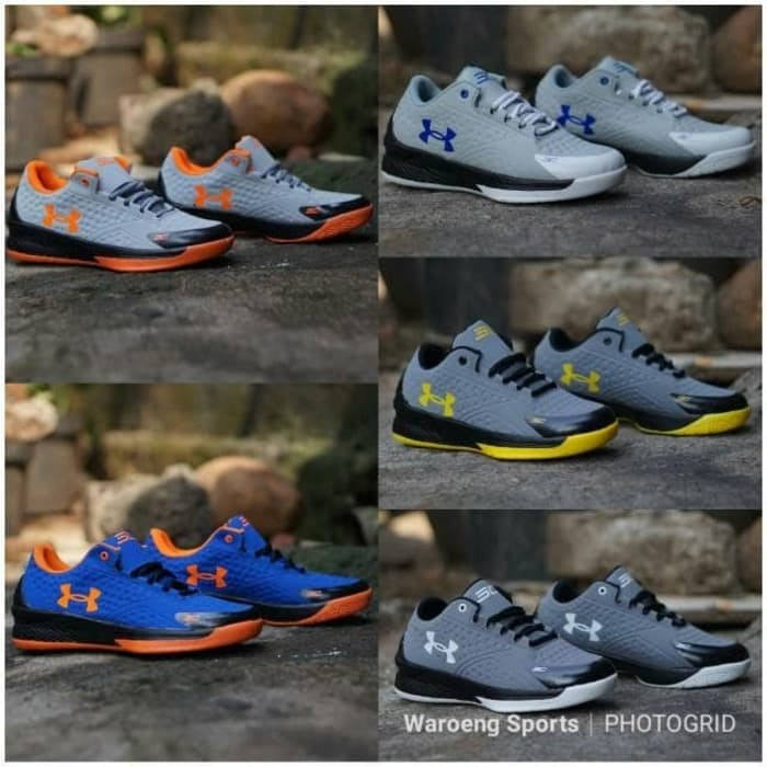 Best Seller Sepatu Basket Under Armour 3 SC Low Curry Cowok Cowo Unde 7c2bb7af66