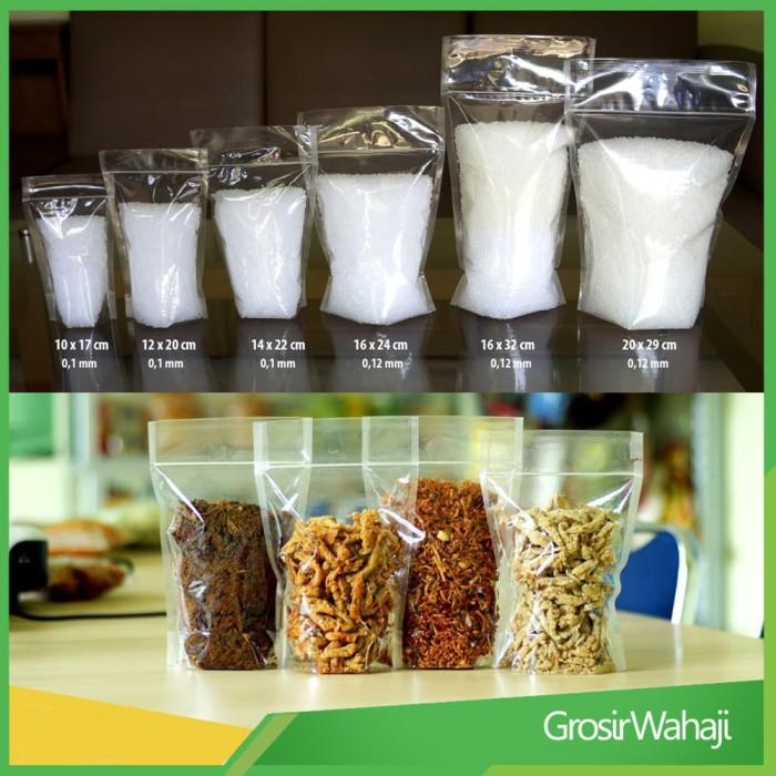 Plastik kemasan makanan ringan 16 x 24 cm / plastik keripik / pouch