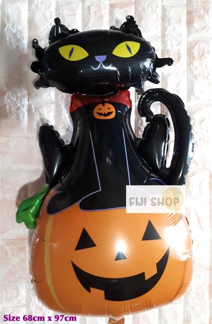 Jual Balon Foil Halloween Cat Pumpkin Kucing Labu Jakarta Utara Fiji Shop Tokopedia