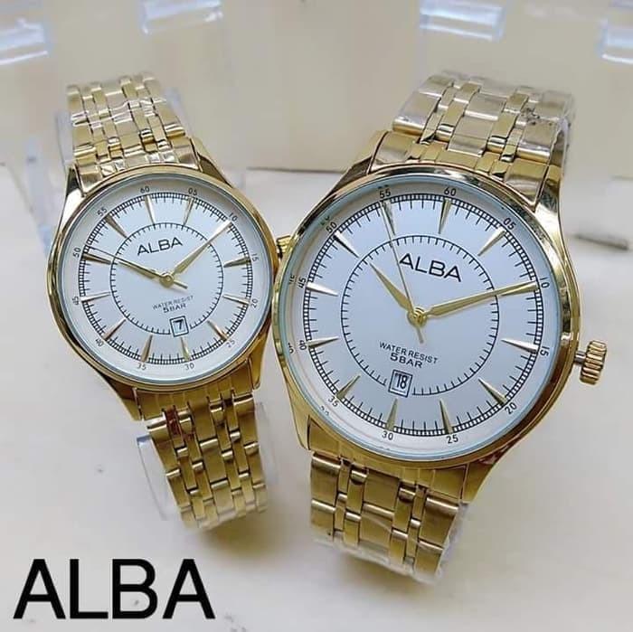 Jam Tangan Alba AL6397 Couple Rantai Gold Stainless Steel. Category    Fashion Wanita Perlengkapan . 4b8e1eff5a