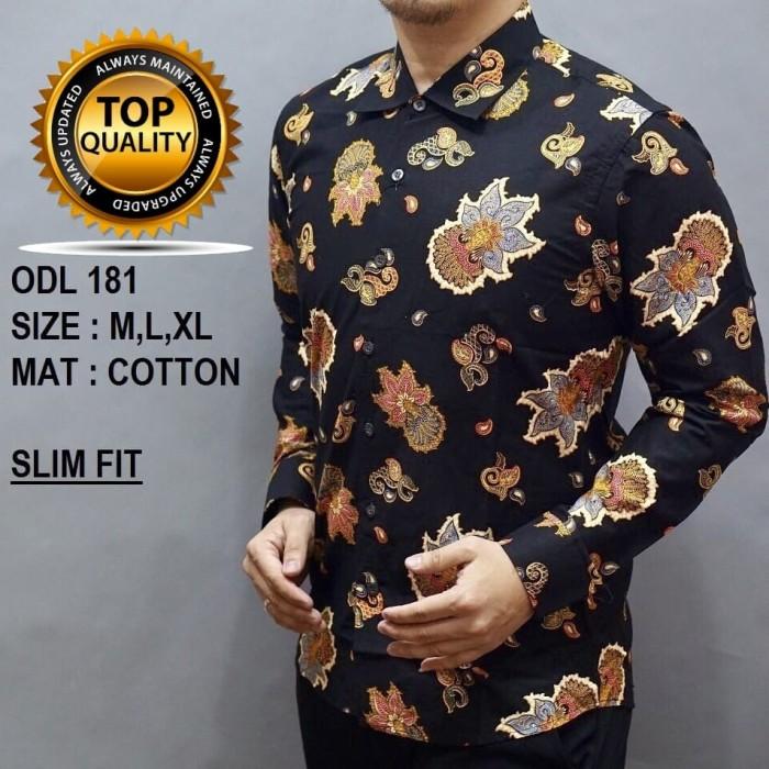 Jual Baju Batik Pria Slim Fit Modern Lengan Panjang D242  83d17a5437