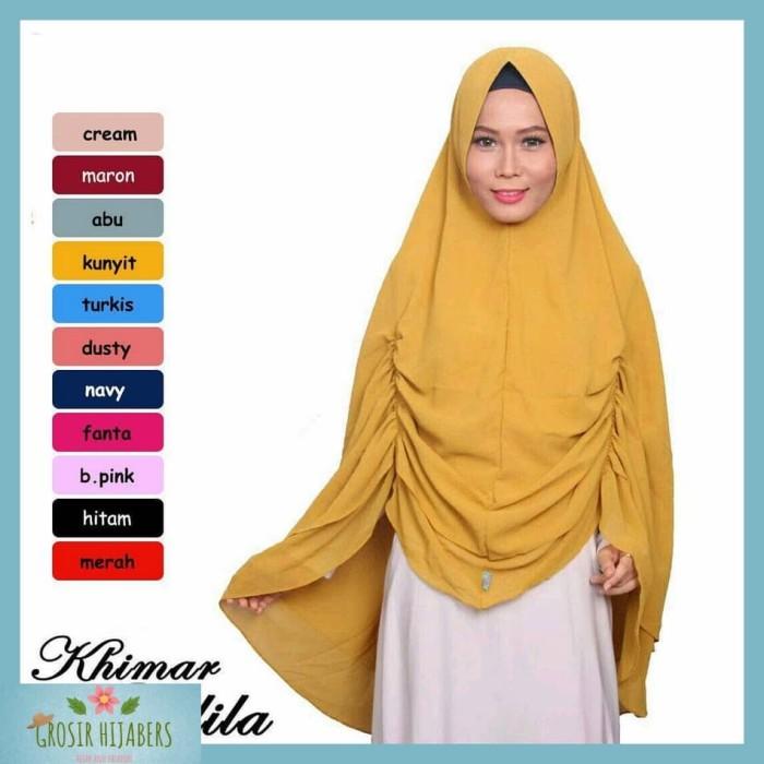 Jilbab Syari Hijab Bergo Kerudung Instan Khimar Ananta Delila Jumbo