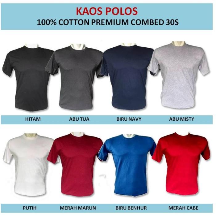 Kaos Polos Distro Katun Combed 30S ReadyStock