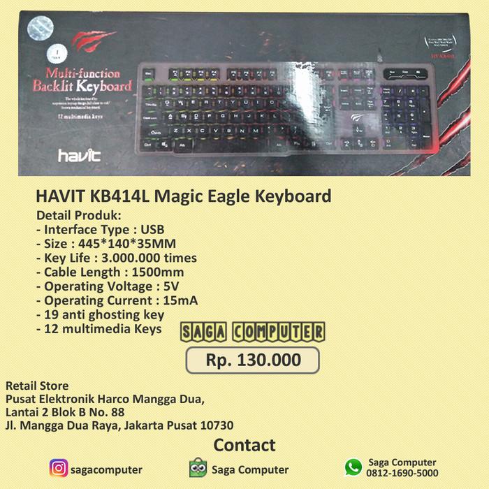 acc9146672d Jual Havit KB414L Magic Eagle Keyboard Gaming Original 100% - DKI ...