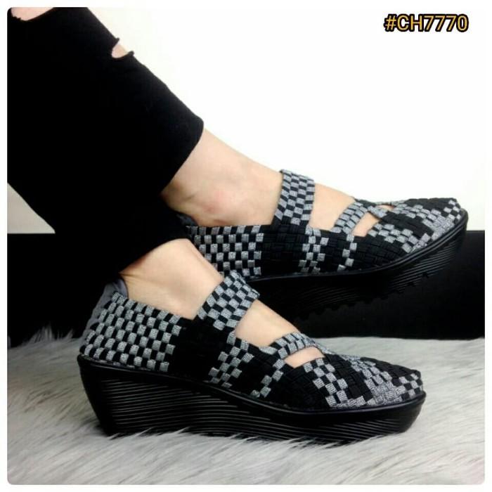 Jual BESTSELLER IN STORE Sepatu Fashion Wanita Murah Wedges Shoes ... 9b49194651