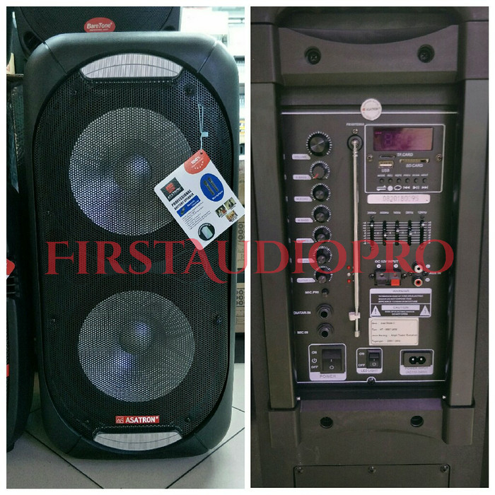 harga Speaker portable meeting wireless asatron ht 8887 ukm 2x12inch Tokopedia.com