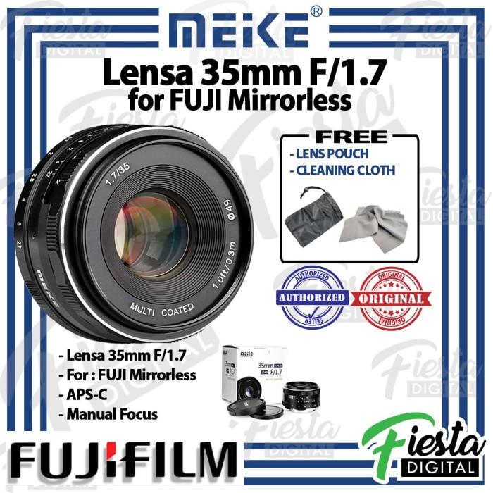Foto Produk Lensa MEIKE 35mm f/1.7 for FUJI Mirrorless dari Fiesta Digital