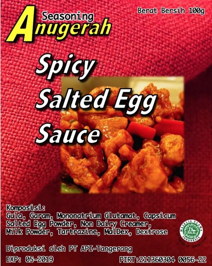 Foto Produk Spicy Salted Egg Powder / Saus Telur Asin Pedas 100gr dari Bumbu Kekinian
