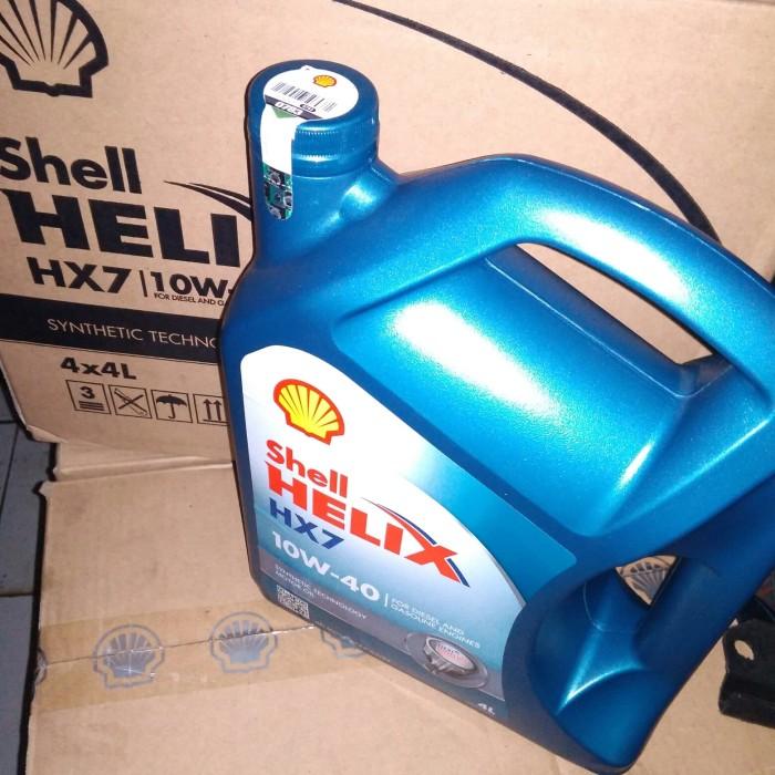Harga Oli Shell Helix Hx7 10w 40w 1 Galon 4 Liter Tokopedia