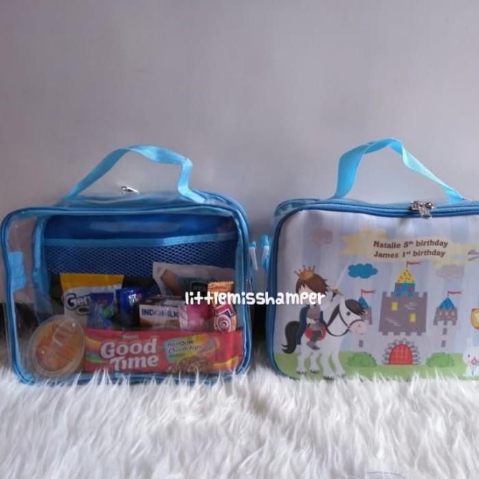 CUSTOM tas koper mika souvenir ulang tahun anak