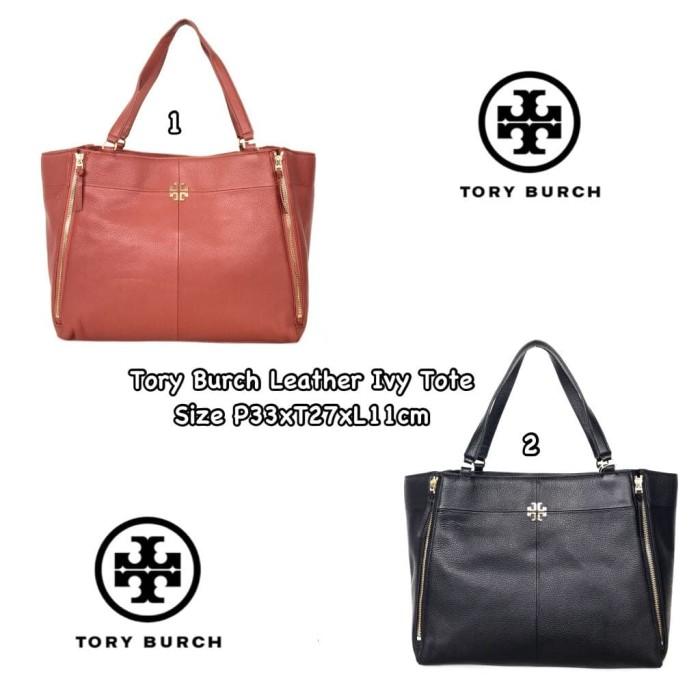 59f6a8f14792 Jual Tory Burch Leather Ivy Tote - Fan ID