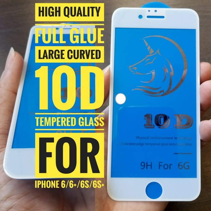 harga Iphone 6s plus tempered glass 10d full cover large curved hq full glue Tokopedia.com