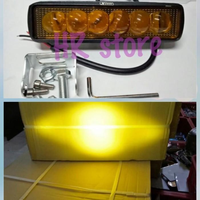 Lampu Tembak Sorot Cree 6 mata 18watt / Led Cree Work Light Led Bar