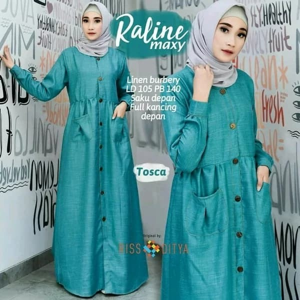 Baju Muslim Hijau Tosca Model Baju Trend 2019