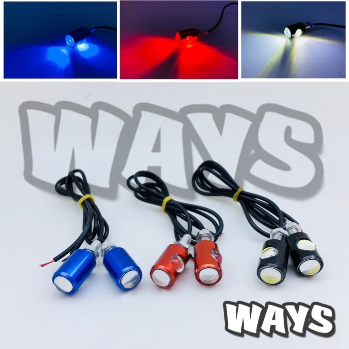 Sensational Jual L025 New 2 Led Lampu Mata Elang Eagle Eye Mobil Motor Nmax Wiring Cloud Hisonuggs Outletorg