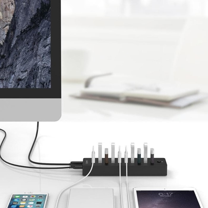 Orico 4 Port USB 3.0 HUB Clip High Speed 5Gbps for PC Laptop 1M