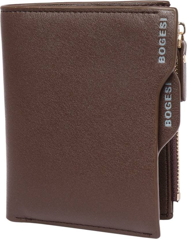 Foto Produk Dompet Pria Kulit Lipat Pendek Bogesi 836 Men Fashion Leather Wallet - Cokelat Tua dari lbagstore