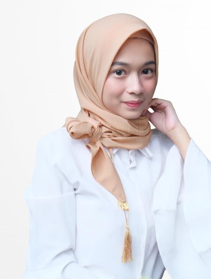 Foto Produk Kerudung Jilbab Hijab Pashmina Segiempat Instan Tassel Azara Diamond dari marshaimarah