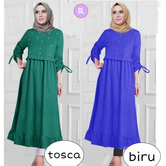 Atasan Wanita Muslim - Baju Gamis Maxi Dress Muslim Alea Maxi ... 9fdb45d699