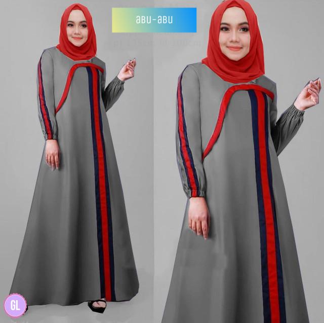 Atasan Wanita Muslim - Baju Gamis Maxi Dress Muslim Ayunda - Dzikri ... 13eedee1d8