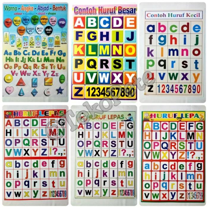 Jual Poster Edukasi Abjad Alphabet Huruf Besar Huruf Kecil Abc Jakarta Barat Toko Pete Tokopedia
