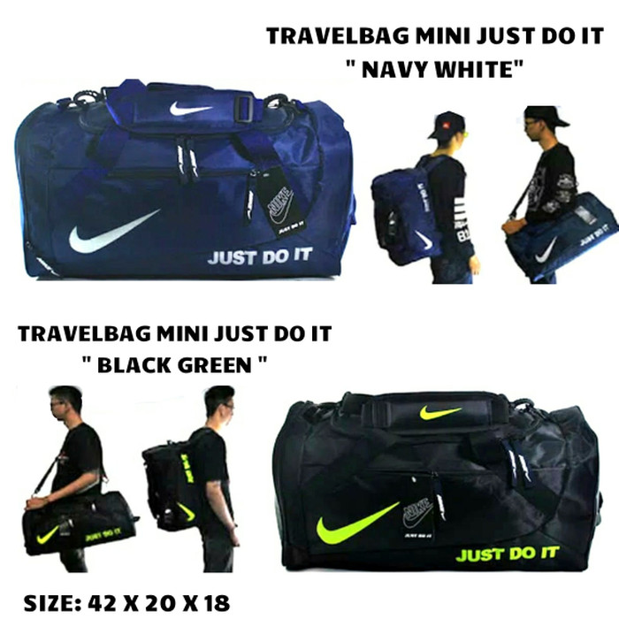 TAS TRAVEL BAG/TAS GYM/TAS BACKPACKER SPORT TAS KOPER TAS FITNESS NIKE - NAVY WHITE
