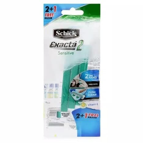 Jual Schick Exacta 2 Sensitive with Vitamin E ( ISI 3 PC) Original ... ae31e72430