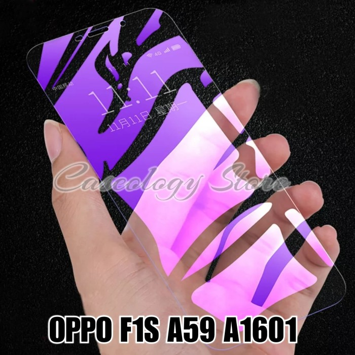 Foto Produk OPPO F1S A59 A1601 TEMPERED GLASS BLUE RAY OPPO F1S PLUS dari Caseology Store