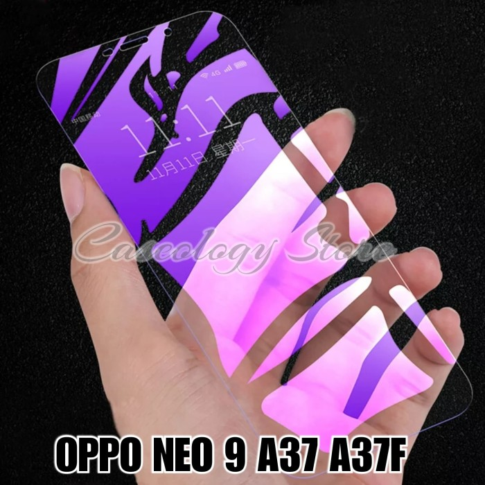 Foto Produk OPPO NEO 9 A37 A37F TEMPERED GLASS BLUE RAY OPPO A37 OPPO A37F - Ungu dari Caseology Store