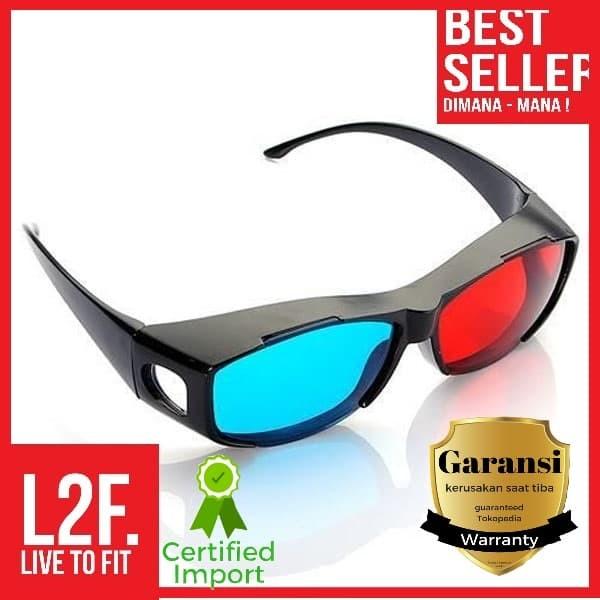 3D Glasses Kacamata Kaca Mata Frame plastik nVidia Vision Red Cyan - Hitam f1a079f2a7