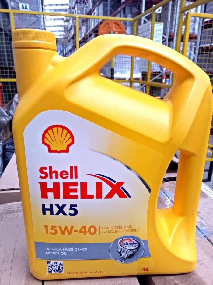 SHELL Helix HX5 15W 40 Oli Pelumas Mesin Mobil 4L 15w40