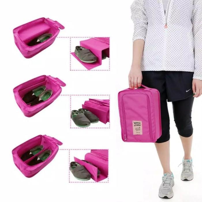 Monopoly shoes pouch travel tas organizer sepatu sandal multifungsi