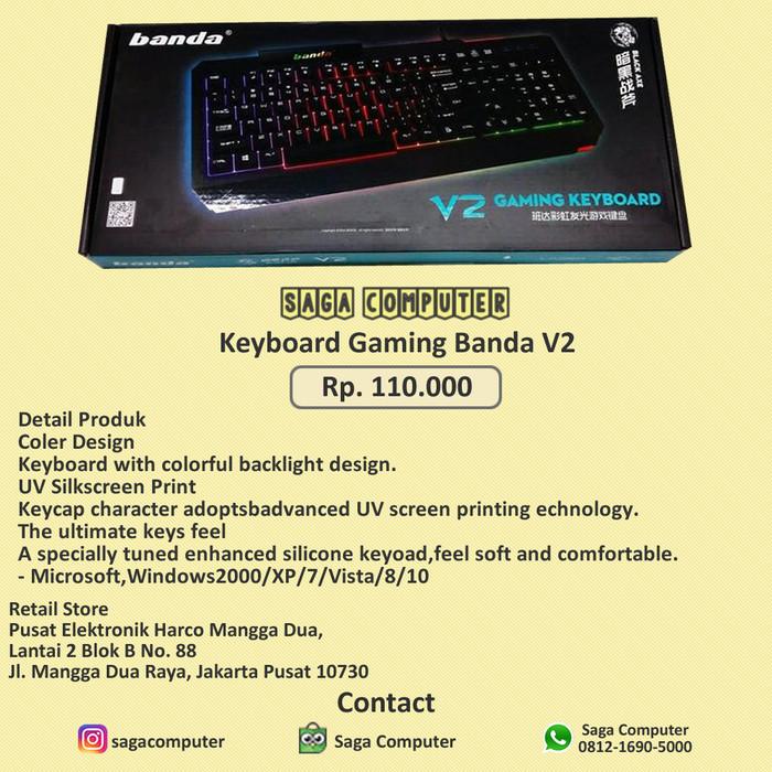 Foto Produk Banda V2 Keyboard Gaming murah Original 100% dari sagacomputer