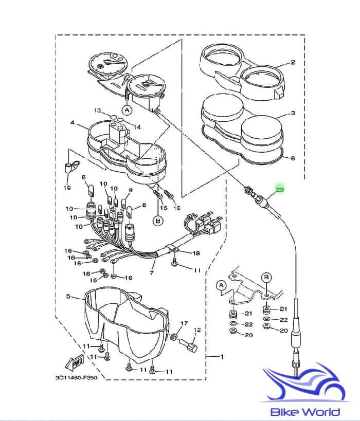 harga Kabel speedometer vixion 3c1-h3550-00 yamaha genuine parts Tokopedia.com