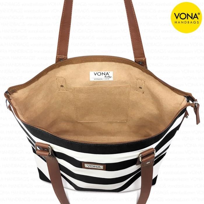 Tas Wanita Vona Carriole Tote Selempang Shoulder Sling Hand Bag Branded Import Cantik .