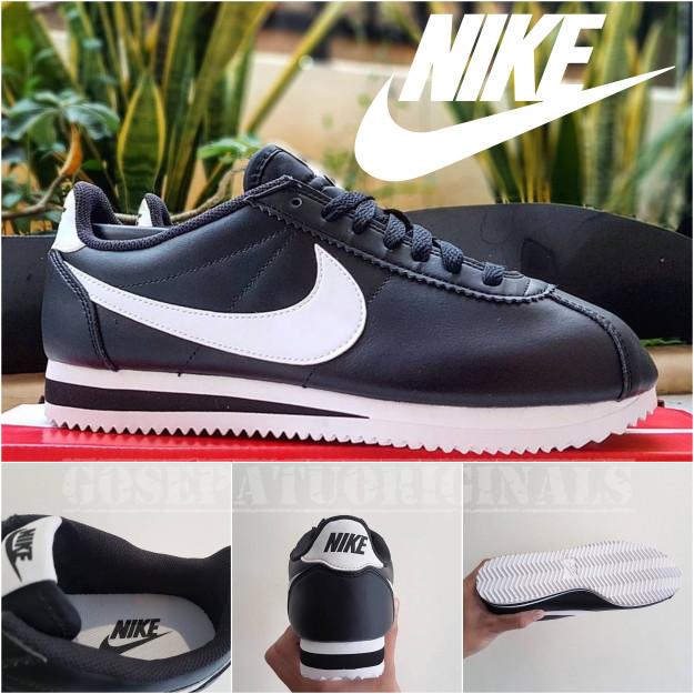 alineación Se asemeja Enmarañarse  Jual Sepatu Nike Cortez Black White Clean Styles Sneakers Original ...