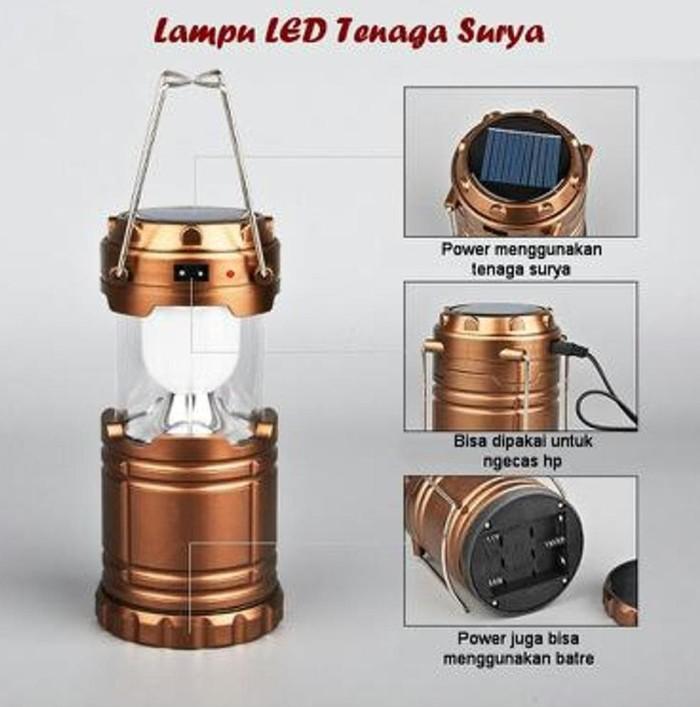 LAMPU SENTER LENTERA SOLAR LED TENAGA SURYA MATAHARI EMERGENCY