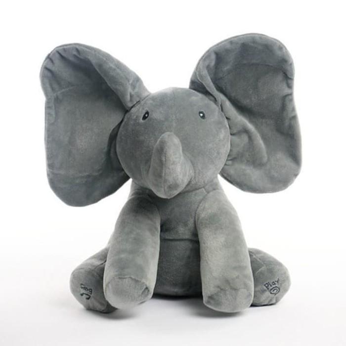 Foto Produk Boneka import gajah atau Elephant PEEK A BOO - Abu -Abu Tua dari lovely kayy