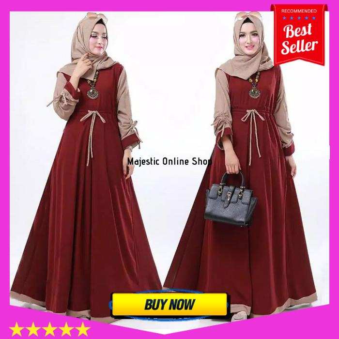 Info Harga Gamis Syari Baju Gamis Pesta Wanita Dress Pesta Gamis