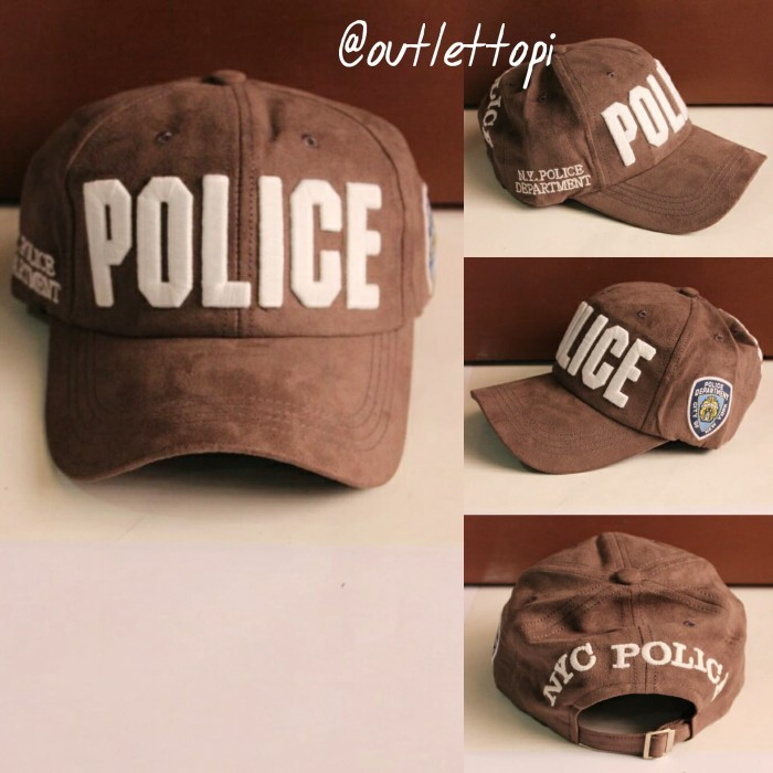 Topi Baseball Import Police Abu