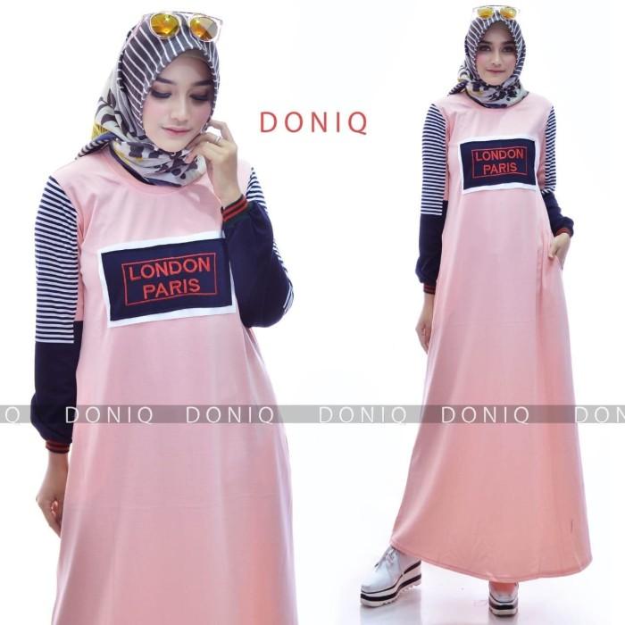 Jual London Paris Dress By Doniq Gamis Kaos Simple Putih Casual