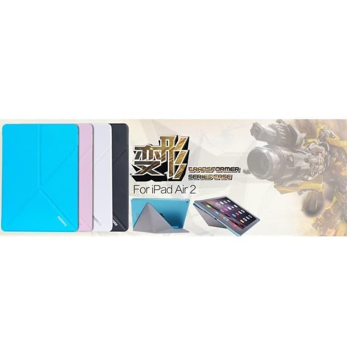 (Dijamin) Remax Transformer Series Leather Case for iPad Air 2 - Black