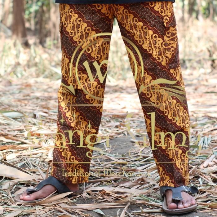 Jual Celana Batik Betawi Boim Panjang Jumbo Hitam Putih Wangisilmy