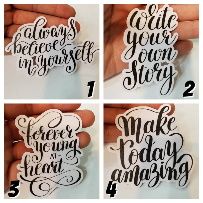 jual sticker quotes kata bijak hitam putih beli gratis