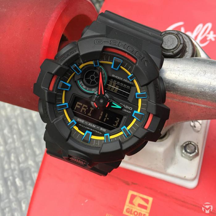 Jual Jam Tangan Pria Casio G-Shock GA-700 SE Black Combine Yellow ... eb2432d682